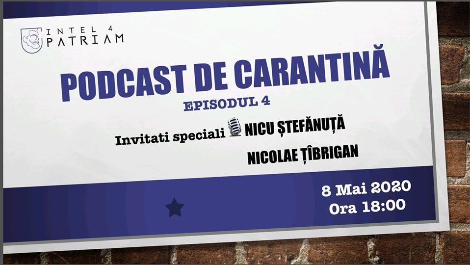 Podcast de carantina Intel4Patriam- Europarlamentarul USR Nicolae Stefanuta despre dezinformare in contextul strategic al UE